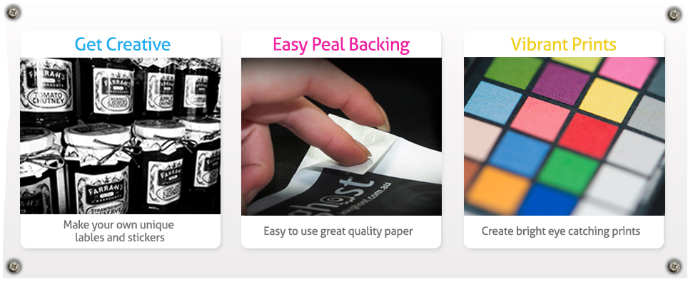 A4 High Gloss Self Adhesive Sticker Paper 135gsm 50