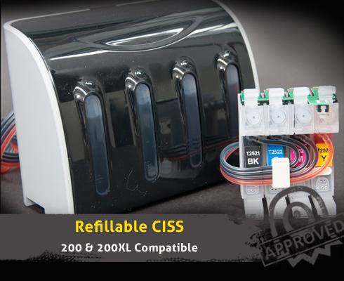 ciss ink system for epson workforce wf 2530 wf 2510 200xl. Black Bedroom Furniture Sets. Home Design Ideas