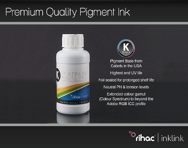 Premium Quality Pigment Ink - Black 100ml #940