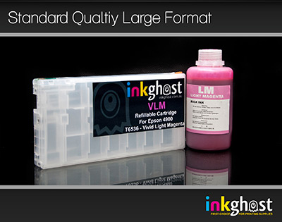 Standard Stylus Pro 4900 Vivid Light Magenta Refillable Cartridge & Pigment Ink T6536