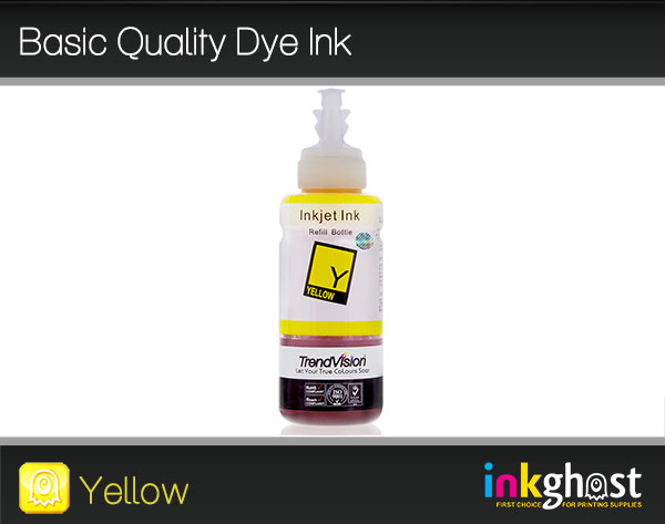 Basic Quality Dye Ink - Yellow 100ml LC37, LC47 & LC57
